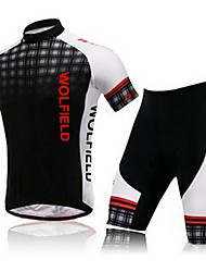 Men's Summer Bike Cycling Bicycle Quick Dry Breathable Short Sleeve Shirt Shorts with Professional 3D Gel Padded Suit