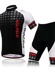Tops/Trajes/Chándal/Capas de Base/Jerseyes/Leggings ( Negro ) - Transpirable/Secado rápido/Compresión - de Ciclismo - de Mangas cortas-