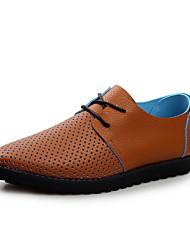 Oxfords ( Cuero , Azul/Marrón/Naranja/Blanco Zapatos de hombre
