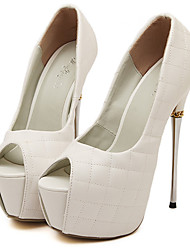 Stiletto - 12cm oder höher - Damenschuhe - Pumps/Heels Schwarz/Weiß )