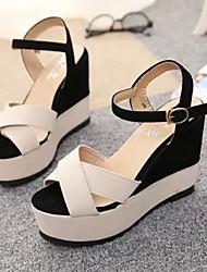 DOPO Women's Shoes Pink/Almond Wedge Heel Sandals