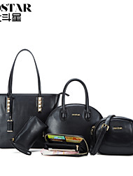 Handcee® The Most Popular Fashion Woman 5 Pieces PU Cheap Bag in Bag