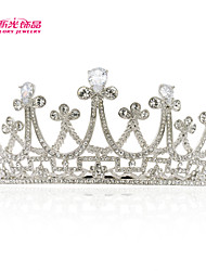 Neoglory Jewelry Flower Tiara Crown Hair Accessories with Clear Austrian Rhinestone for Lady's Wedding Pageant