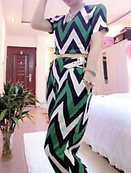 Women's Sexy Thin Short Sleeve Short Blouse&Pants Set (Polyester)