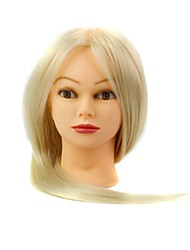 Synthetic Hair Salon Female Mannequin Head with Make-up