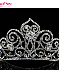 Neoglory Jewelry Clear Austrian Rhinestone Royal Tiara Crown Hair Combs for Wedding