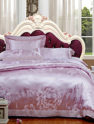 Floral Tencel 4 Piece Duvet Cover Sets