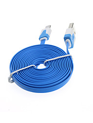 2M Flat Noodle Micro USB Charger Sync Data Cable