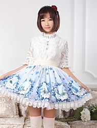 Sky Blue Sweet  Lolita Star and Pegasus Skirt Lovely Cosplay