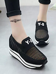 Canvas Lady Women's Shoes Black/Grey/Pink Wedge Heel 3-6cm Fashion Sneakers