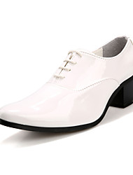 Men's Spring / Summer / Fall / Winter Pointed Toe Leather / Patent Leather Office & Career / Party & Evening / Casual Chunky Heel Lace-up