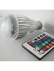 E27 Large screw 3WRGB Balloons Colorful Remote Control Color LED Energy-saving lamps
