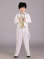 Portador de anel Suit - 6 Preto/Dourado/Prateado/Branco Uniforme de Pano