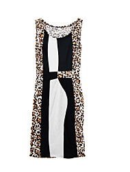 2015 summer package hip night club Party ladies sleeveless leopard sexy tight dress