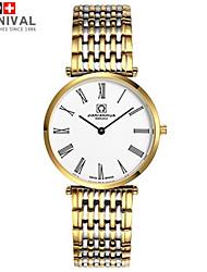 Watch The Haze JIANIANHUA Series Of Thin Small Men Quartz Watch Waterproof Two Fine Needle Strip's Gold White Watch