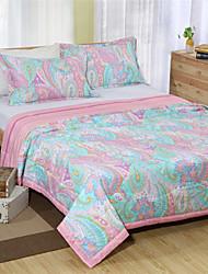 formato full size queen paisley rosa trapunta estate 100% cotton