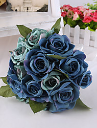 magique bleu fleurs rose bouquet de mariage pour la décoration