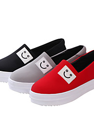 Canvas Lady Women's Shoes Black/Grey/Red Platform 0-3cm Fashion Sneakers