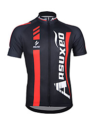 Arsuxeo Men's Breathable Short Sleeve Cycling Jersey Bicycle Top