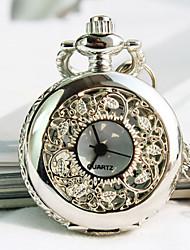 europeu forma mostrador redondo quartzo colar das mulheres assistir relógio de bolso