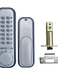 All Weather Mechanical Keyless Digital Door Lock Stain Chrome OS12B