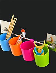 cuisine&salle de bain organisation tasse ou porte-serviettes / sticker réutilisables non-trace / couleur aléatoire