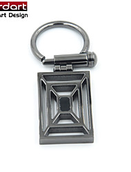IP Gun 316L Stainless Steel Key Clasp with Black Enamel twist switch for Unisex