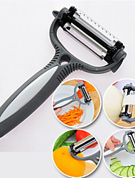4 in 1 Edelstahl Gemüseschäler Fruchtschneider Slicer Zyklon Messer (gelegentliche Farbe)
