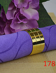 6Pcs In Light of All Gold Wire Napkin Ring