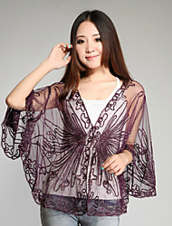 Hoods & Ponchos Capes Half-Sleeve Polyester Thin Capes Black/Purple/Almond