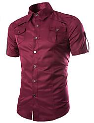 Chemises informelles ( Coton ) Informel Manches courtes pour Homme