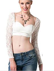 Women's Lace Midriff Long Sleeve Jumper