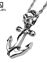 Kalen Jewelry Fashionable Designs Skull Anchor Pendant Necklace