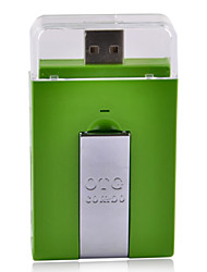 Micro USB OTG 2.0 HUB & Card Reader for Smart Phone & Computer - Green