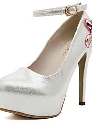 Chaussures Femme - Habillé - Noir / Argent - Talon Aiguille - Talons / Bout Arrondi - Talons - Paillette