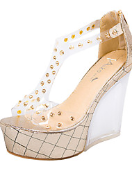 Women's Shoes  Platform Heels/Peep Toe/Platform/Comfort/Open Toe Sandals Casual Silver/Gold