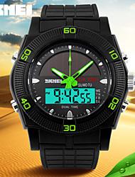 skmei® montre sportive énergie solaire analogique-numérique calendar / chronographe / double fuseaux horaires hommes / alarme bracelet en