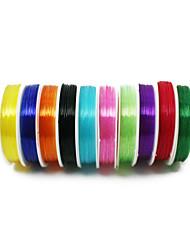 beadia 0.5mm elastische Dehnung Sicken Kristall Schnur Halskette Armband diy Drahtgewinde multi Farbe 10 Rollen (APX 12m / roll)