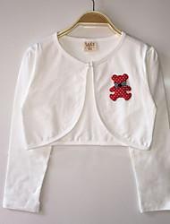 Girl's Cotton Micro-elastic Thin Long Sleeve Lovely Bear Coats