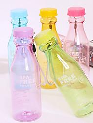 550ml de refrigerante reutilizável inquebrável estanques garrafa de água para o esporte de ciclismo (cor aleatória)