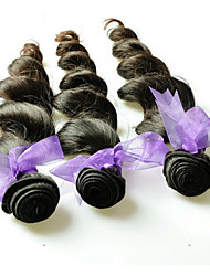 "4Pcs Lot 10""-28"" 6A Peruvian Long Virgin Hair Wavy Hair Closure Natural Black Heat Resistant 100% Human Hair Bundles"