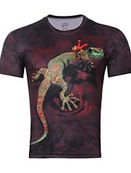 Informell/Business Kurzarm - MEN - T-Shirts ( Baumwolle )