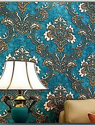 Floral Papel de parede Clássico Revestimento de paredes,Papel não tecido Sim