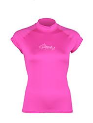 Winmax® Woman Custom Printed Rash Guard  Purple/Pink/Black Short Sleeves