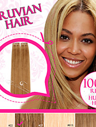 Tape in Hair/ Skin Weft/ PU Weft Light Color 100% Peruvian Remy Human Hair Ty.Hermenlisa