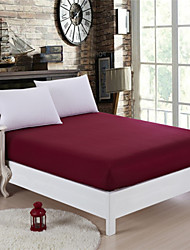 Wine Red Queen Mattress Cover Topper Cotton Twin/Queen/King