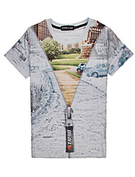 ShowMan Men`s Floral Print Causual Fashion Short Sleeve T-shirt