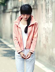Women's Pink/Green Jackets , Casual Long Sleeve