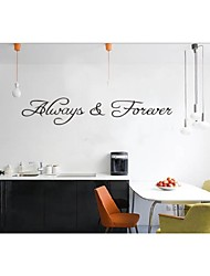 Always&Forever Loving Quote Wall Decals Zooyoo8071 Decorative Wall Decor Removable Vinyl Wall Stickers Home Decoration