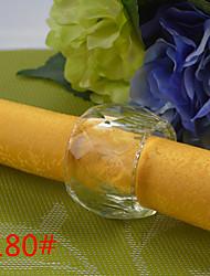 6Pcs Drum Crystal Napkin Ring